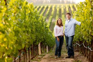 Bibiana and Jeff Pisoni in the Wine Vineyards.