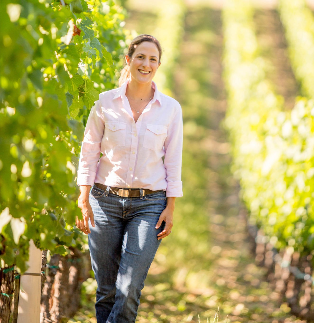 Bibiana Walks in the Vineyard