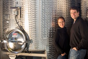 Bibiana and Jeff with Stainless Steel Tanks