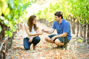Bibiana and Jeff Select Grapes