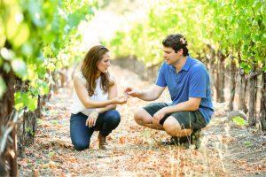 Bibiana and Jeff Select Grapes