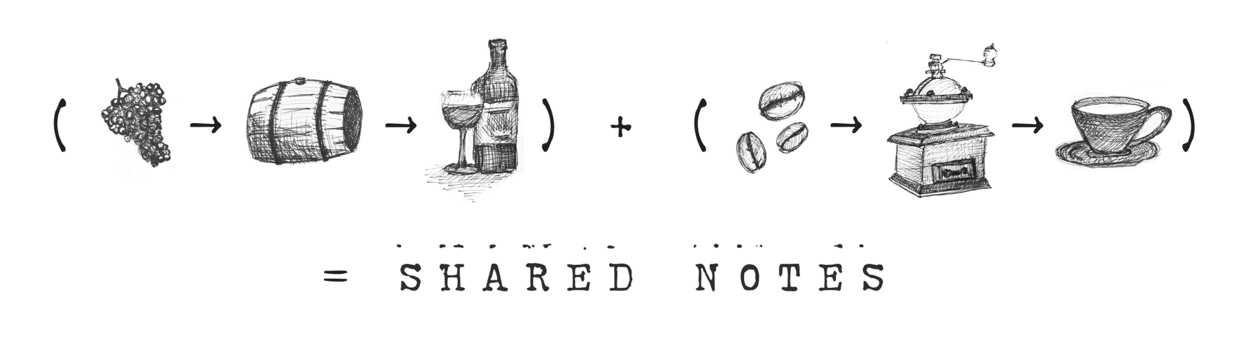 Wine + Coffee = Shared Notes