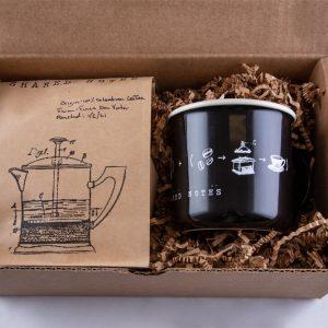 Black Shared Notes Coffee and Mug Set